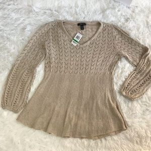 Boho style flare out sweater retro refresh